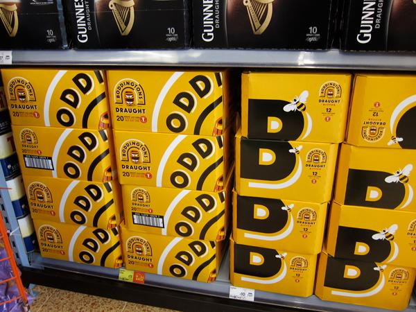Boddingtons beer old and new packaging design