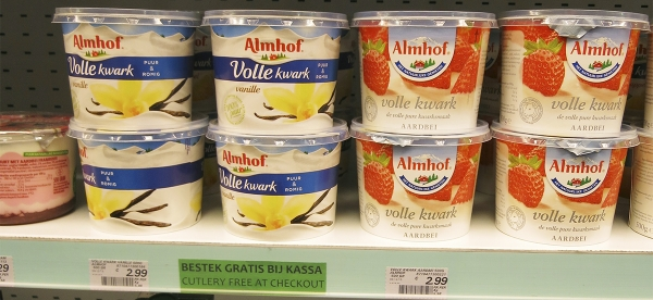 Almhof Yoghurt in a Dutch Supermarket