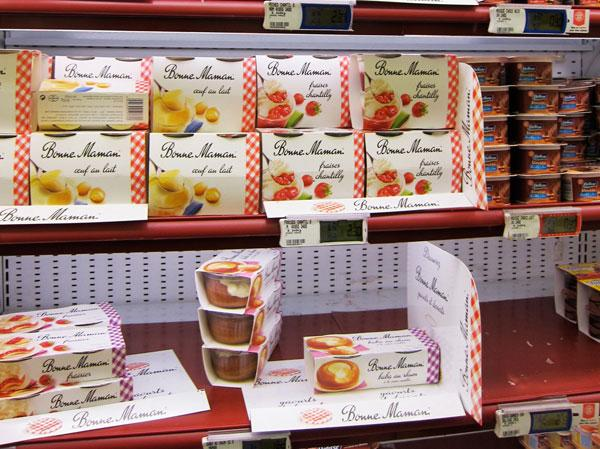 Bonne Maman desserts on shelf