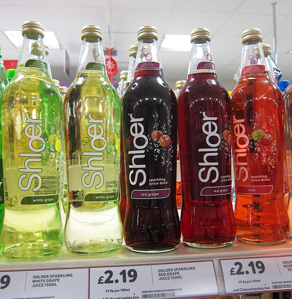 Shloer Grape Juice Bottles