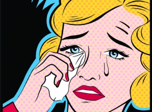 Pop Art of a woman crying