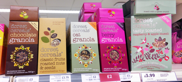 Dorset Cereals Granola on Shelf