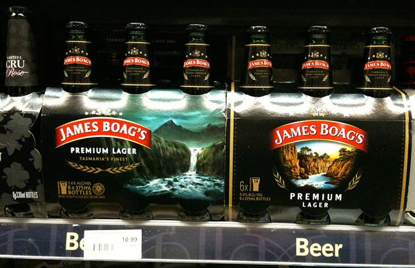 James Boag's Beer Pacakges