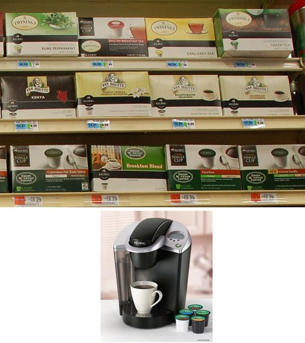 The Keurig in a supermarket in New York
