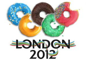 "Olympic Circles made of donuts ""London 2012"""