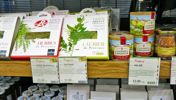 Herbs and Salt of Provence on Shelf