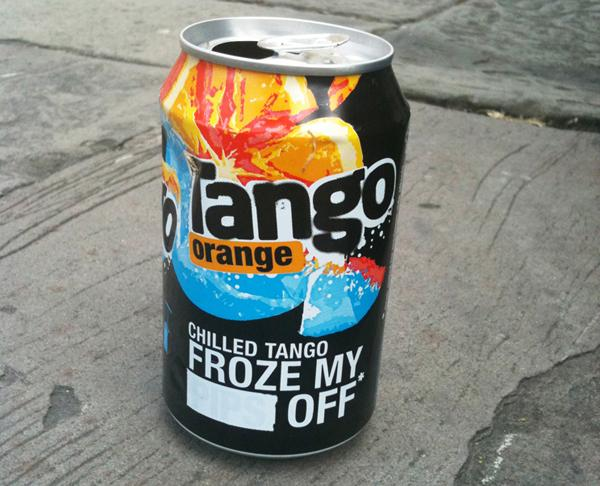 Tango soft drink can