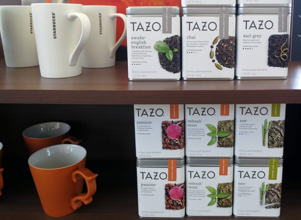 Starbucks Shelf with Tazo Tea