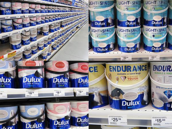 Dulux paint tins