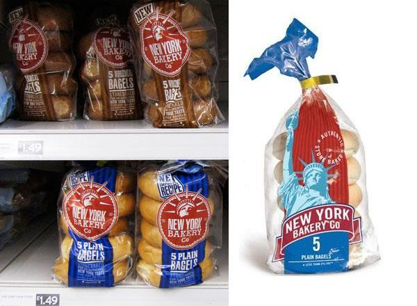 New York Bakery Co. Bagels old and new design