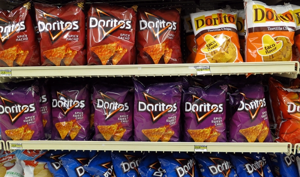 Doritos Chips on a Supermarket Shelf