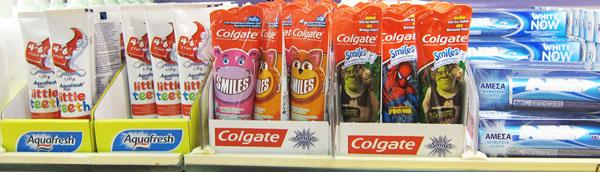 Colgate Kids Toothpaste with Characters printed on it
