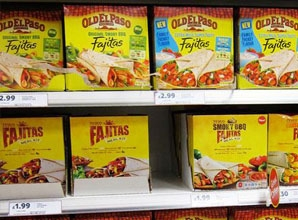Old el Paso Fajitas on a supermarket Shelf