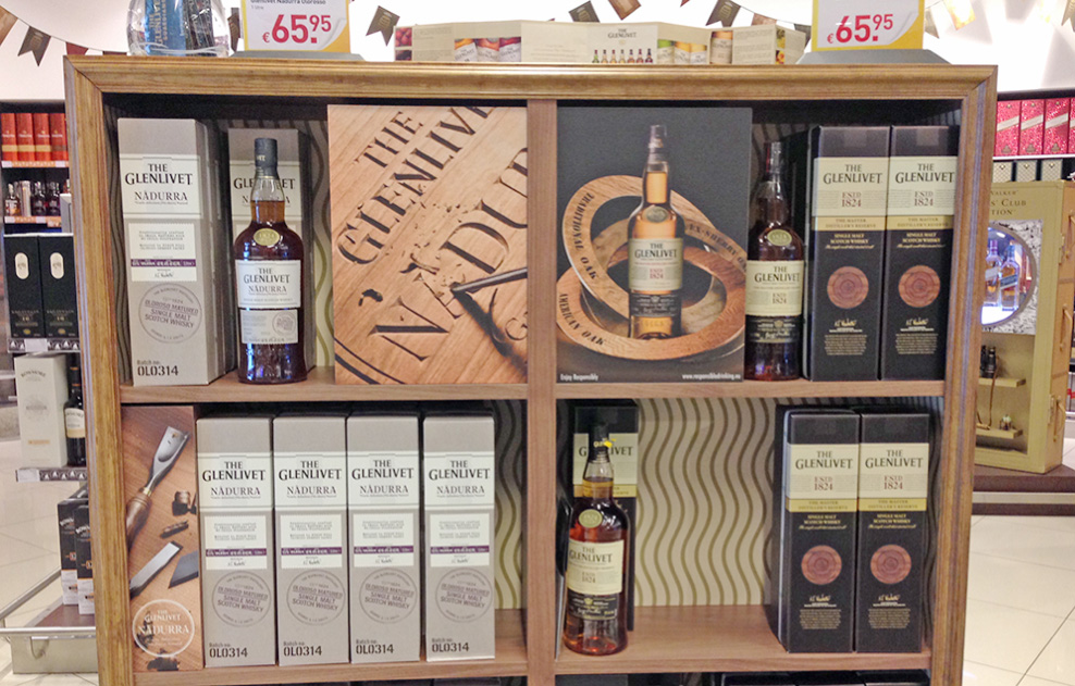 The Glenlivet Whiskey Airport display