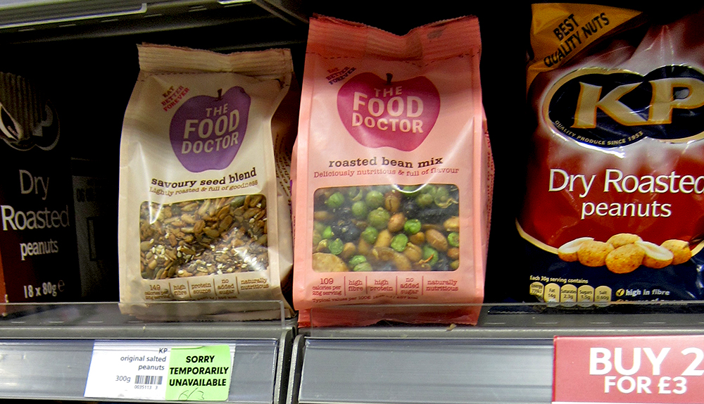 Dried Fruit and nuts on Shelf