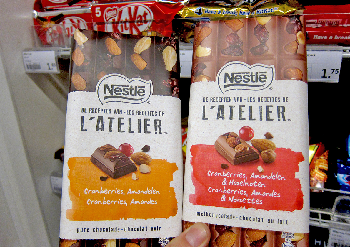 Nestle Chocolate Crafted Packaging Netherlands Shelf