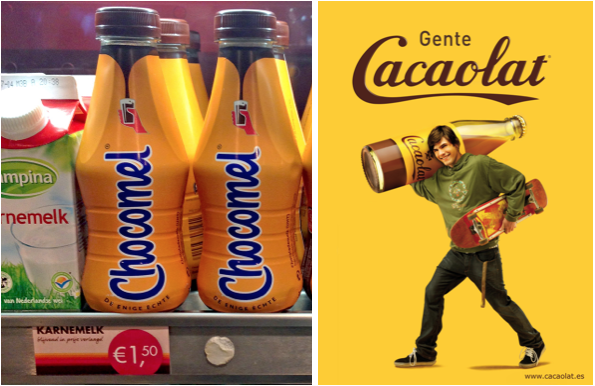 Dutch and Spanish Chocolate Milk Brands Packaging
