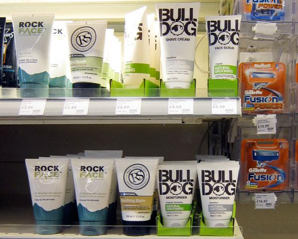 Men cosmetics and toiletries