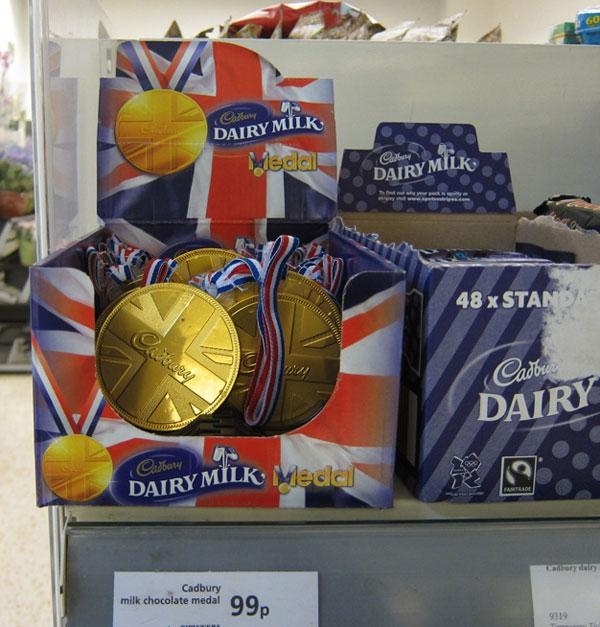 Cardbury Chocolate gold medal