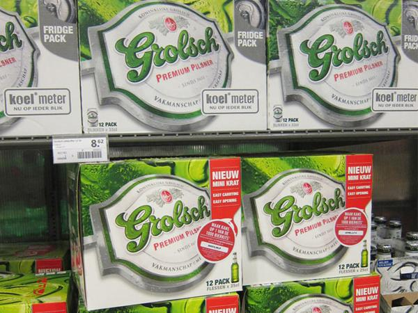 Grolsch beer boxes
