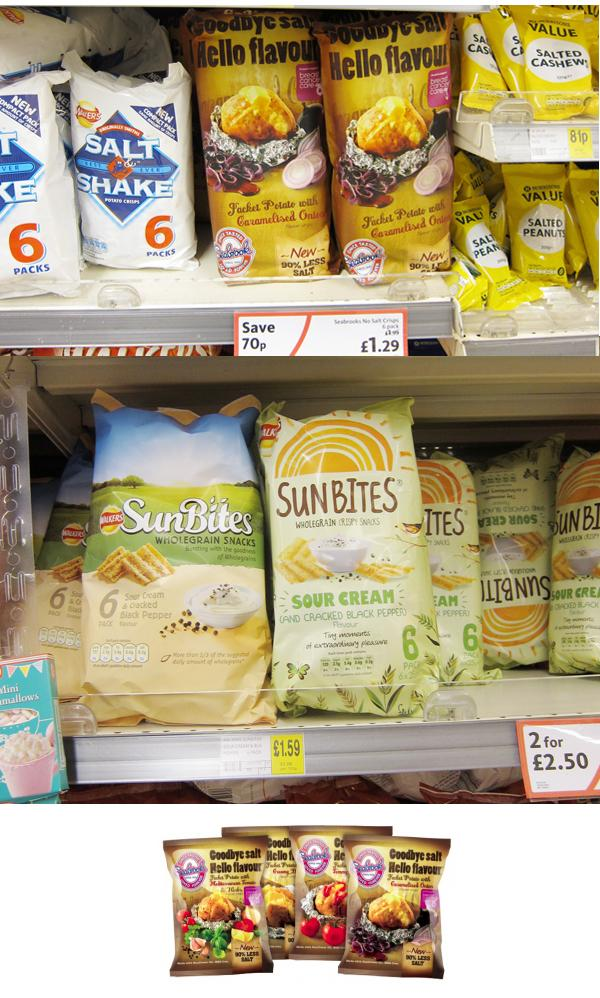 SunBites snacks old and new design
