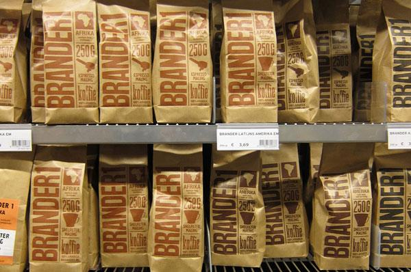 Brown paper bags for Brander1 coffee packages
