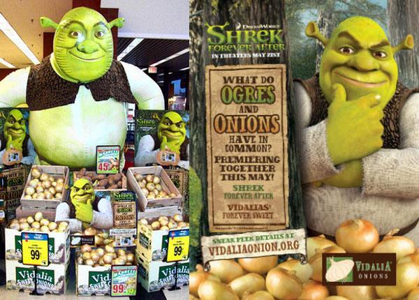 Shrek 3D carton shaped selling onions