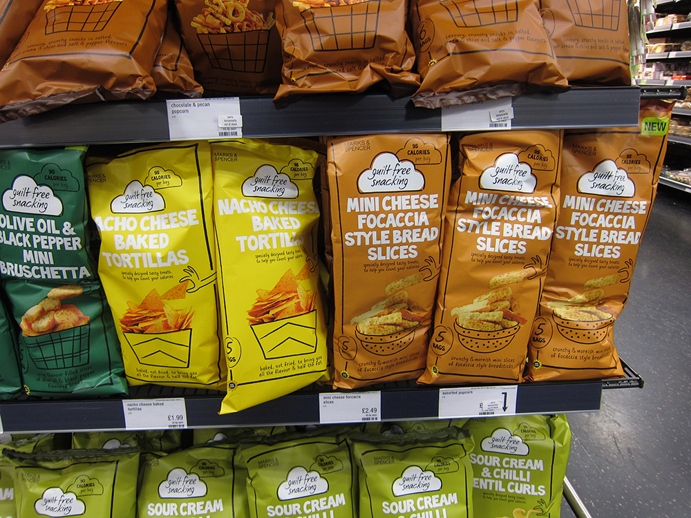 Marks & Spencer Healthy Snacks on Shelf - Trust me I'm Healthy Issue