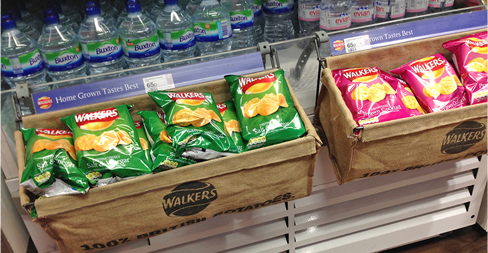 Walkers Chips on Shelf