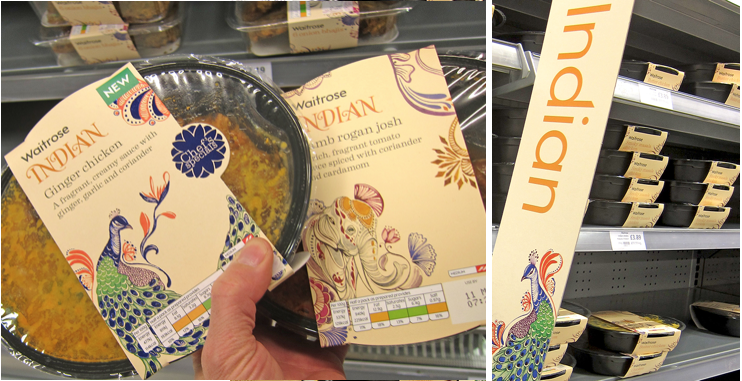 Indian Food Crafted Packaging at Waitrose