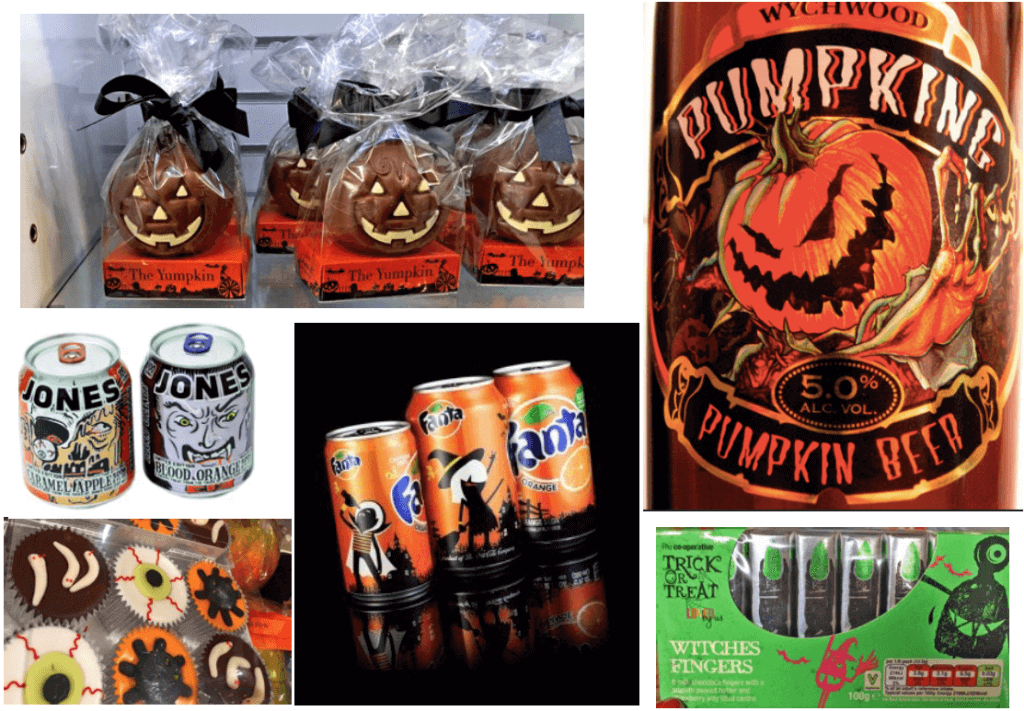 Different brands special edition packaging for Halloween