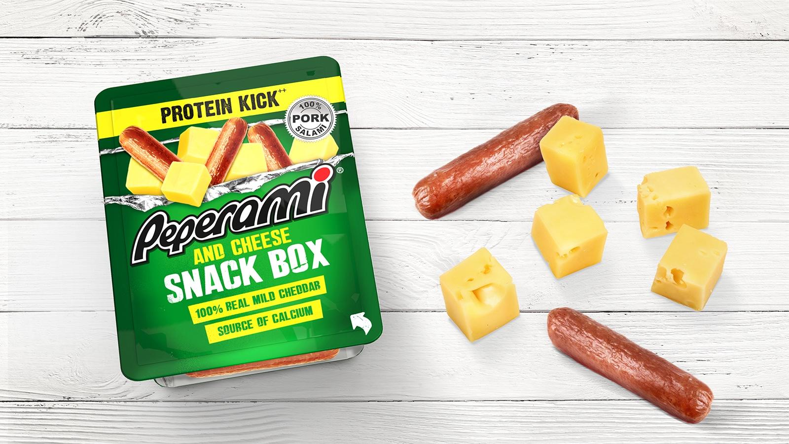 Snack box packaging | Peperami Branding
