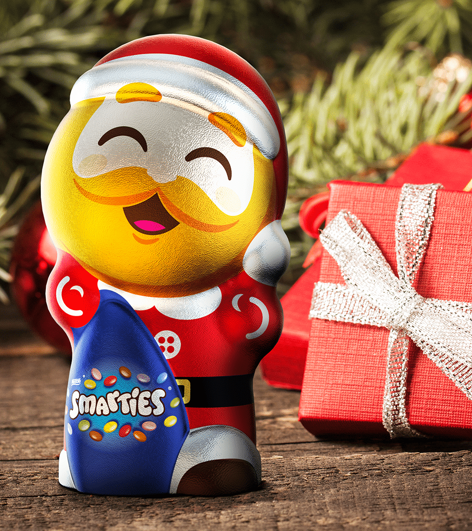 father christmas smarties packaging