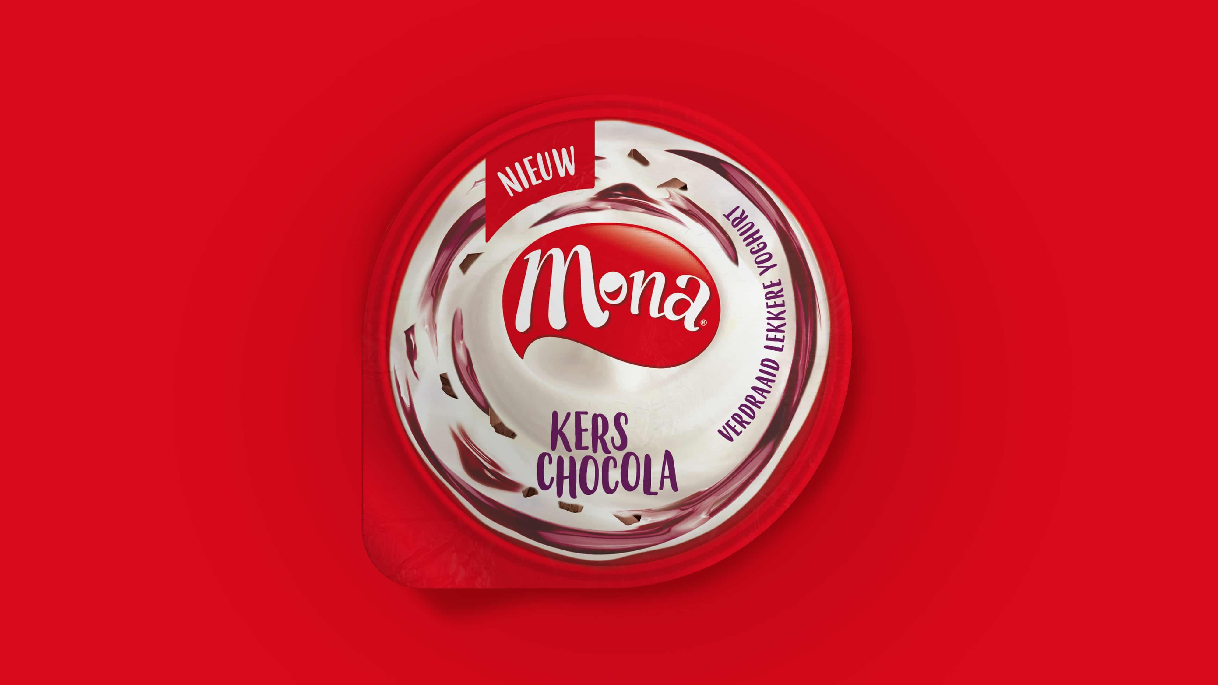 Dessert Branding Design -Mona yoghurt Lid