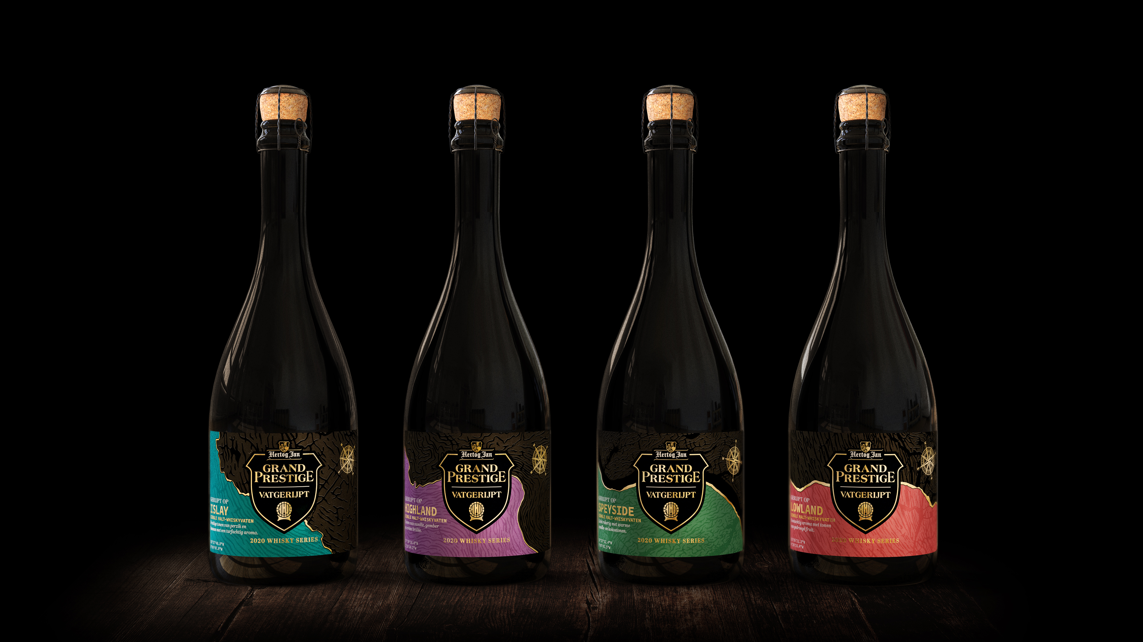 Beer bottle design Hertog Jan Grand Prestige Vatgerijpt range